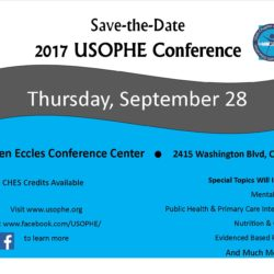 2017 USOPHE Conference September 28 at the Ogden Eccles Conference Center