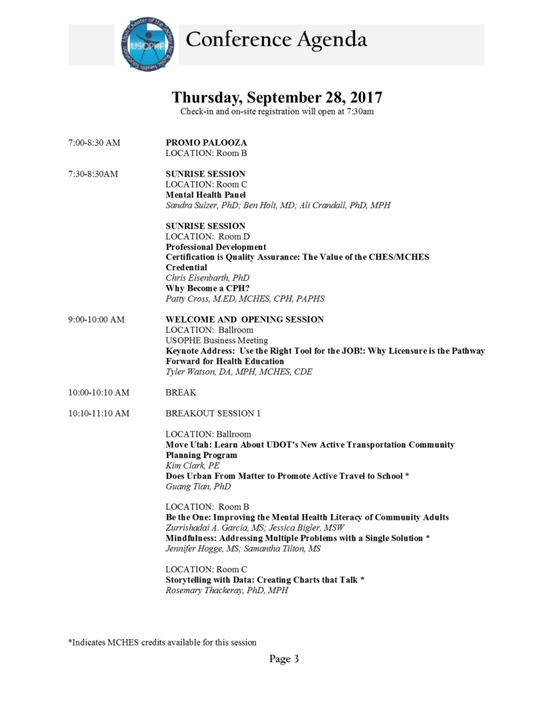 USOPHE 2017 Conference Program_Revised 20 September